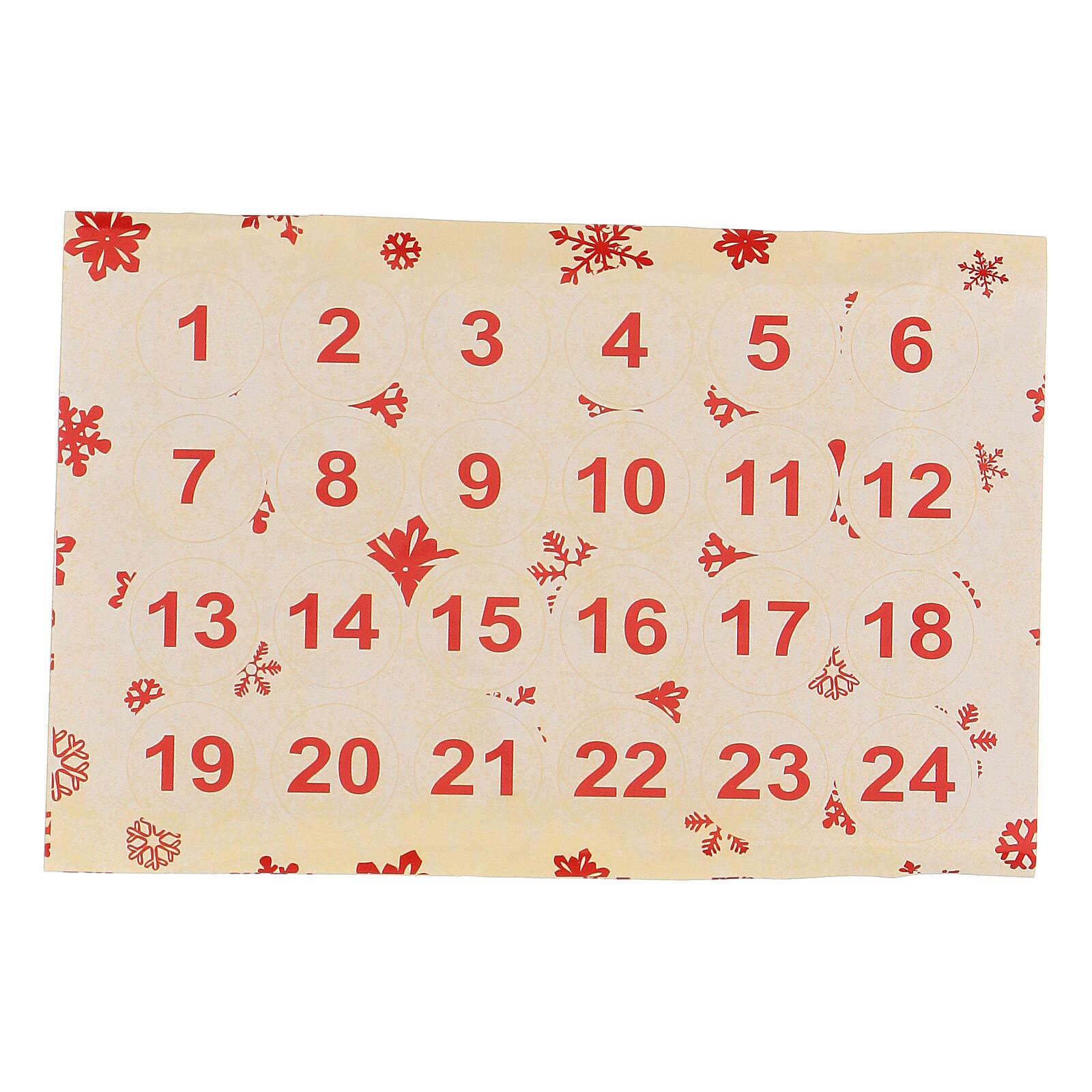 Calendario Avvento bustine e stickers 20x10 cm 3