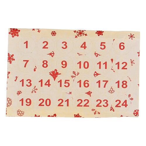 Calendario Avvento bustine e stickers 20x10 cm 4