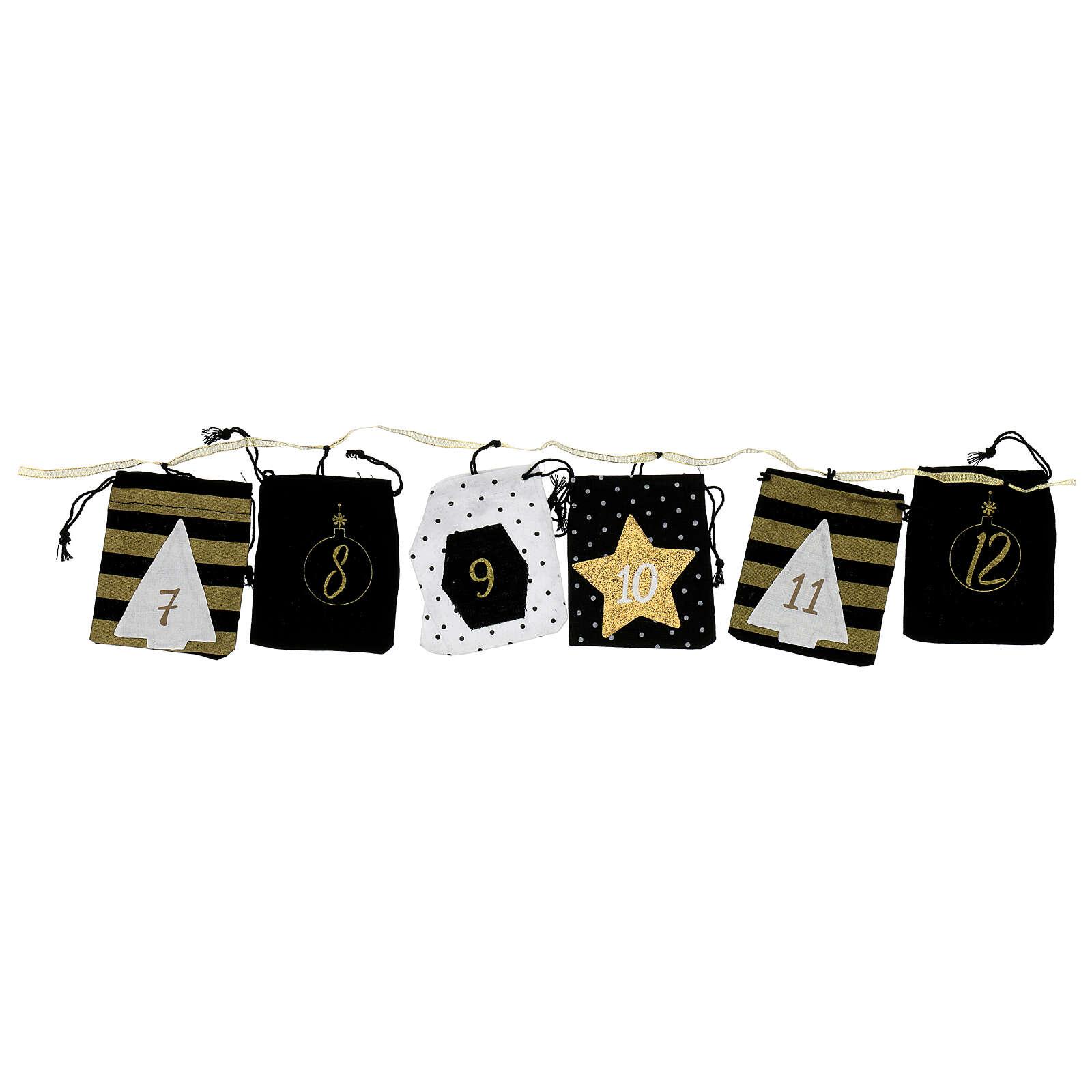 Advent Calendar cloth bags 10x12 cm 3