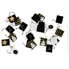 Advent Calendar cloth bags 10x12 cm s5