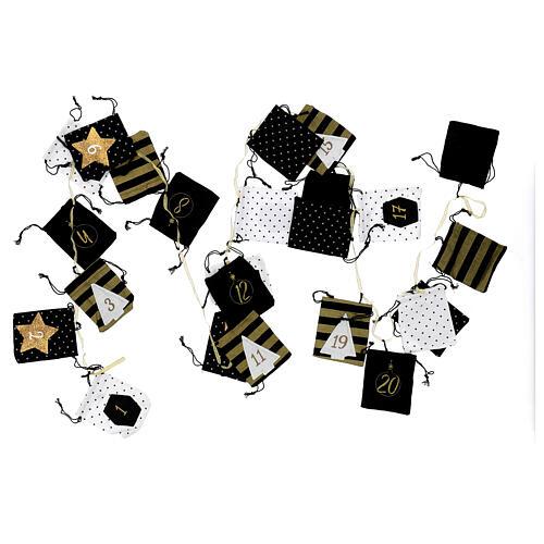Advent Calendar cloth bags 10x12 cm 5
