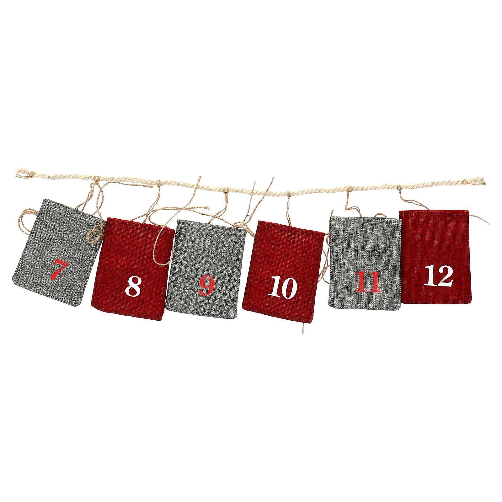 Fabric Advent Calendar with pockets 10x12 cm 3