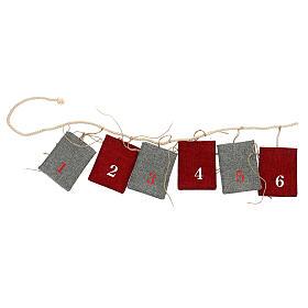 Fabric Advent Calendar with pockets 10x12 cm s1