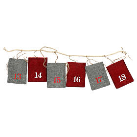 Fabric Advent Calendar with pockets 10x12 cm s3
