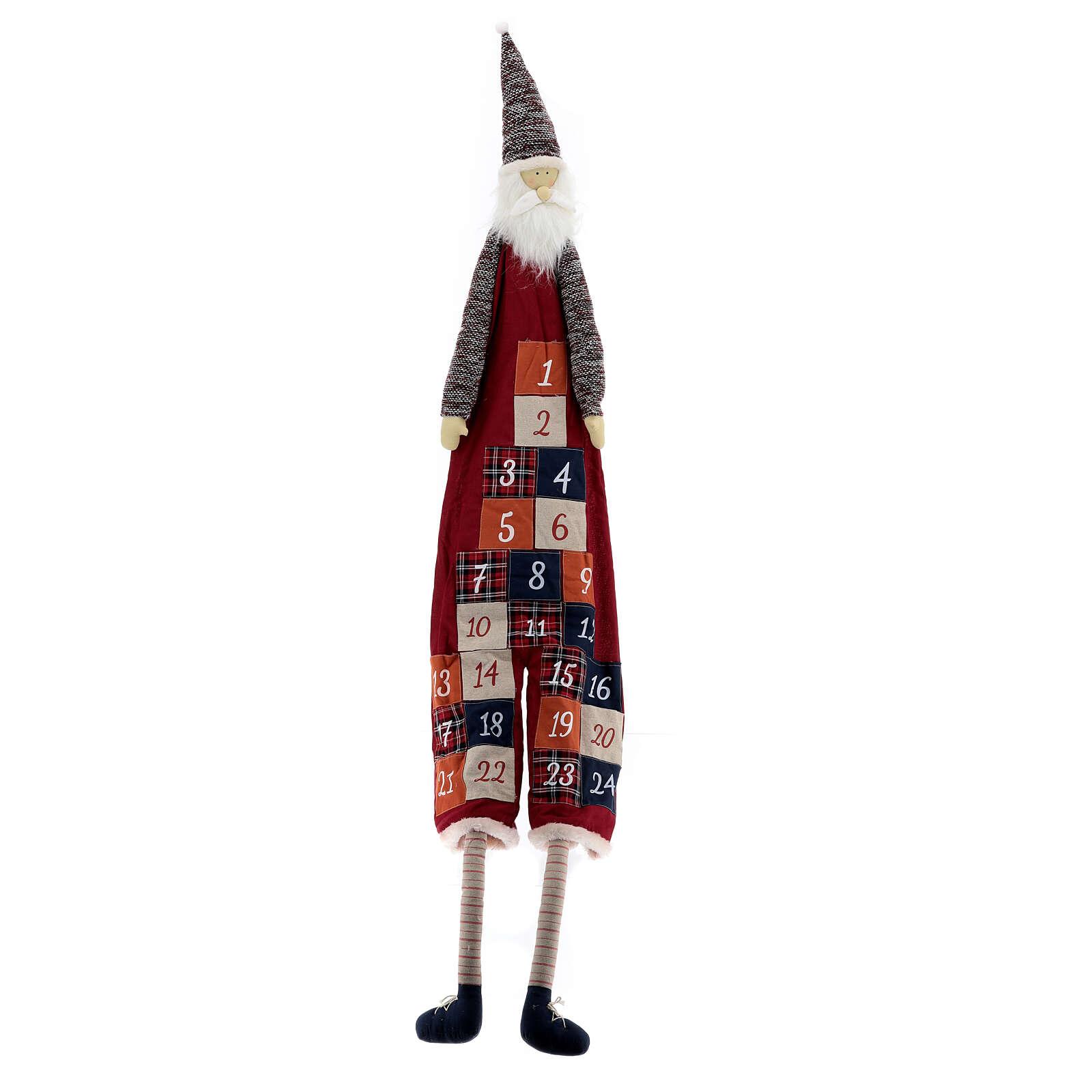 Calendario Avvento con Babbo Natale in stoffa 3