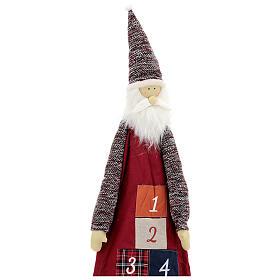 Calendario Avvento con Babbo Natale in stoffa s2