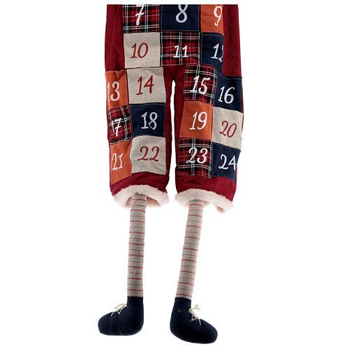 Calendario Avvento con Babbo Natale in stoffa 4