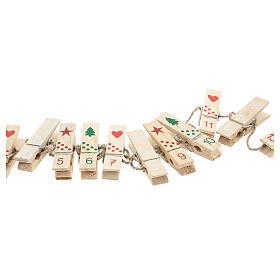 Mollette legno per Calendario Avvento s2