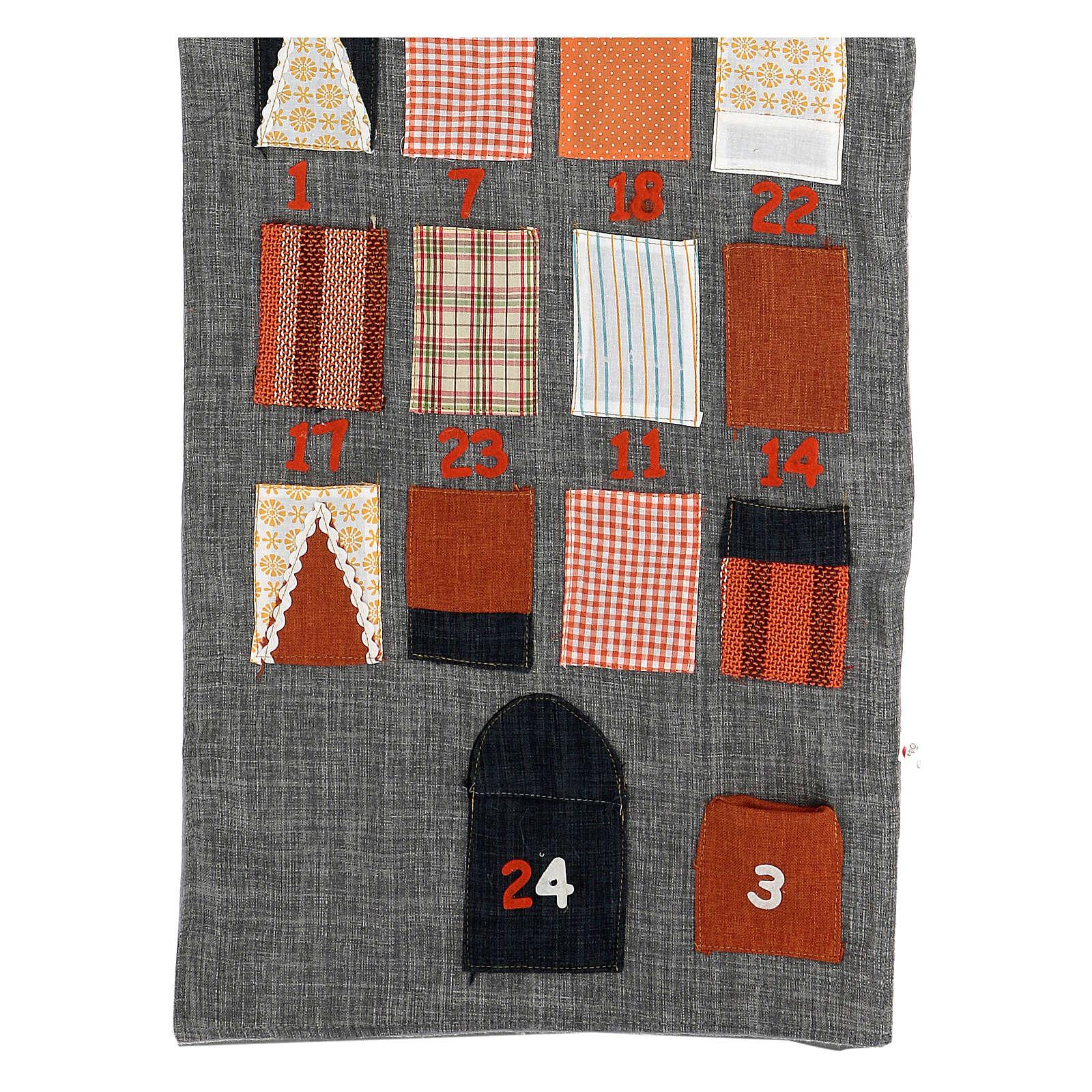Calendrier Avent maison en tissu 3