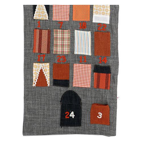Calendrier Avent maison en tissu 2