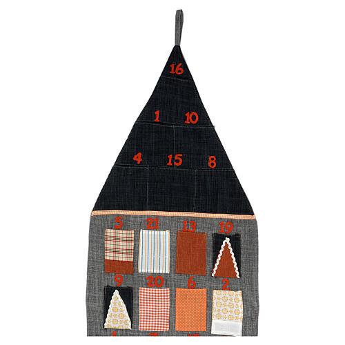 Calendario Avvento Casetta in stoffa 3