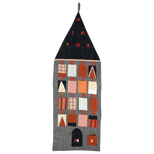 Advent Calendar House in cloth 1