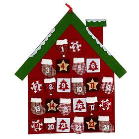 Calendrier Avent maison rouge tissu s1