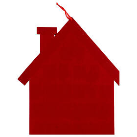 Calendrier Avent maison rouge tissu s3