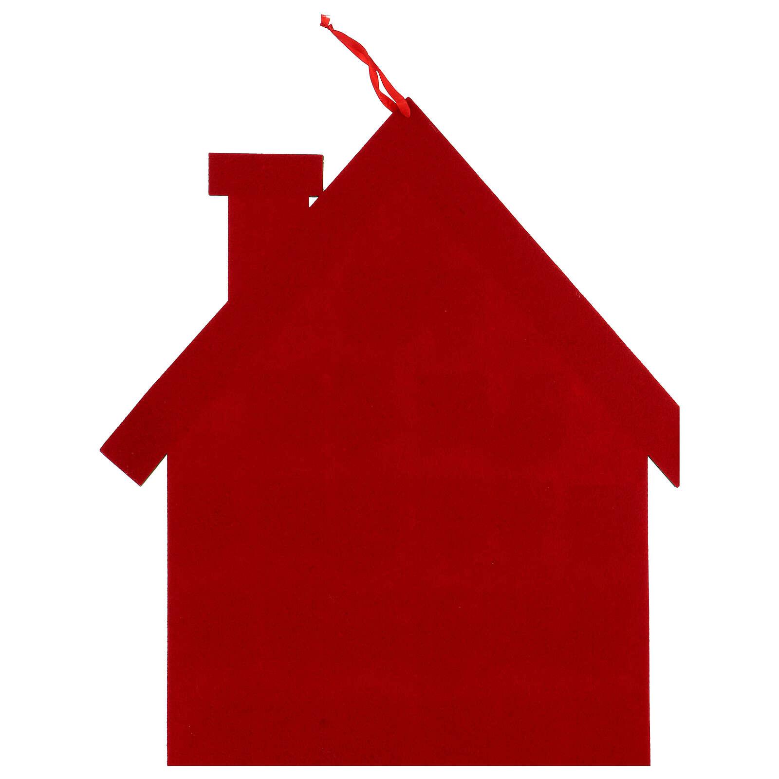 Calendario Avvento casetta rossa stoffa 3