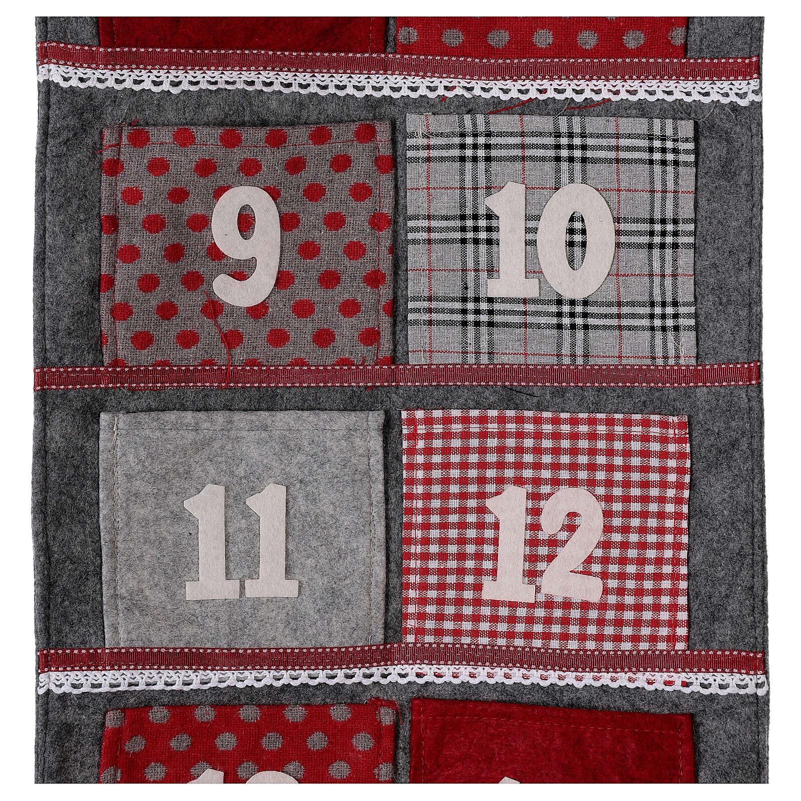 Advent calendar felt 170 cm 3