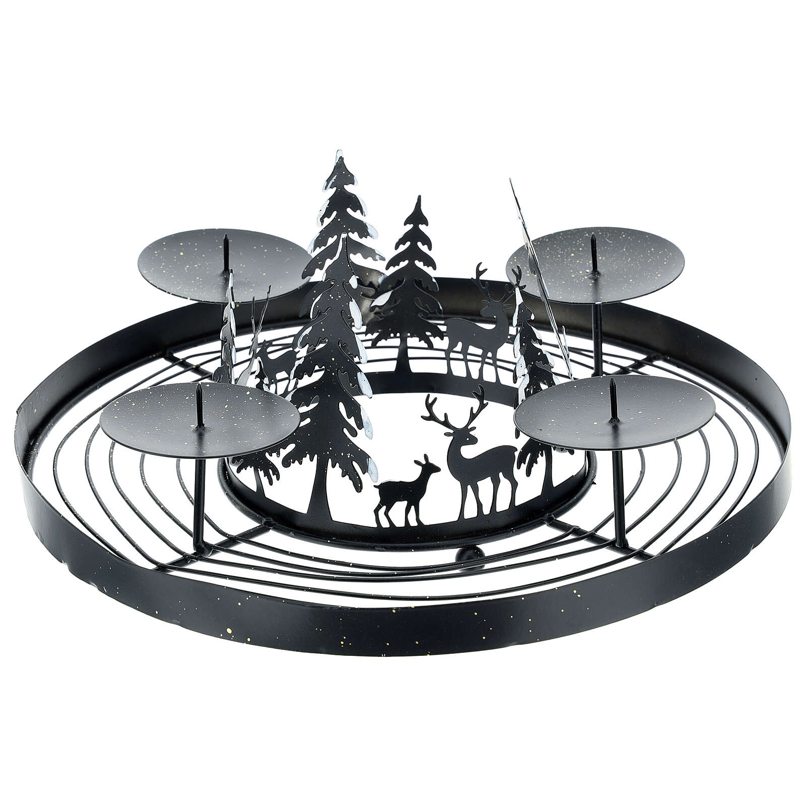 Advent wreath snowy forest punches 30 cm 3