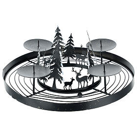 Advent wreath snowy forest spikes 30 cm s1