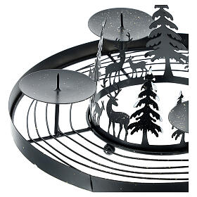 Advent wreath snowy forest spikes 30 cm s2
