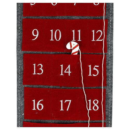 Calendar Advent gnome felt 125 cm 3