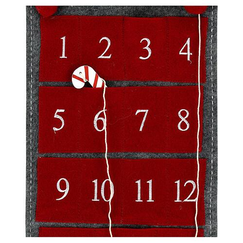 Calendar Advent gnome felt 125 cm 4