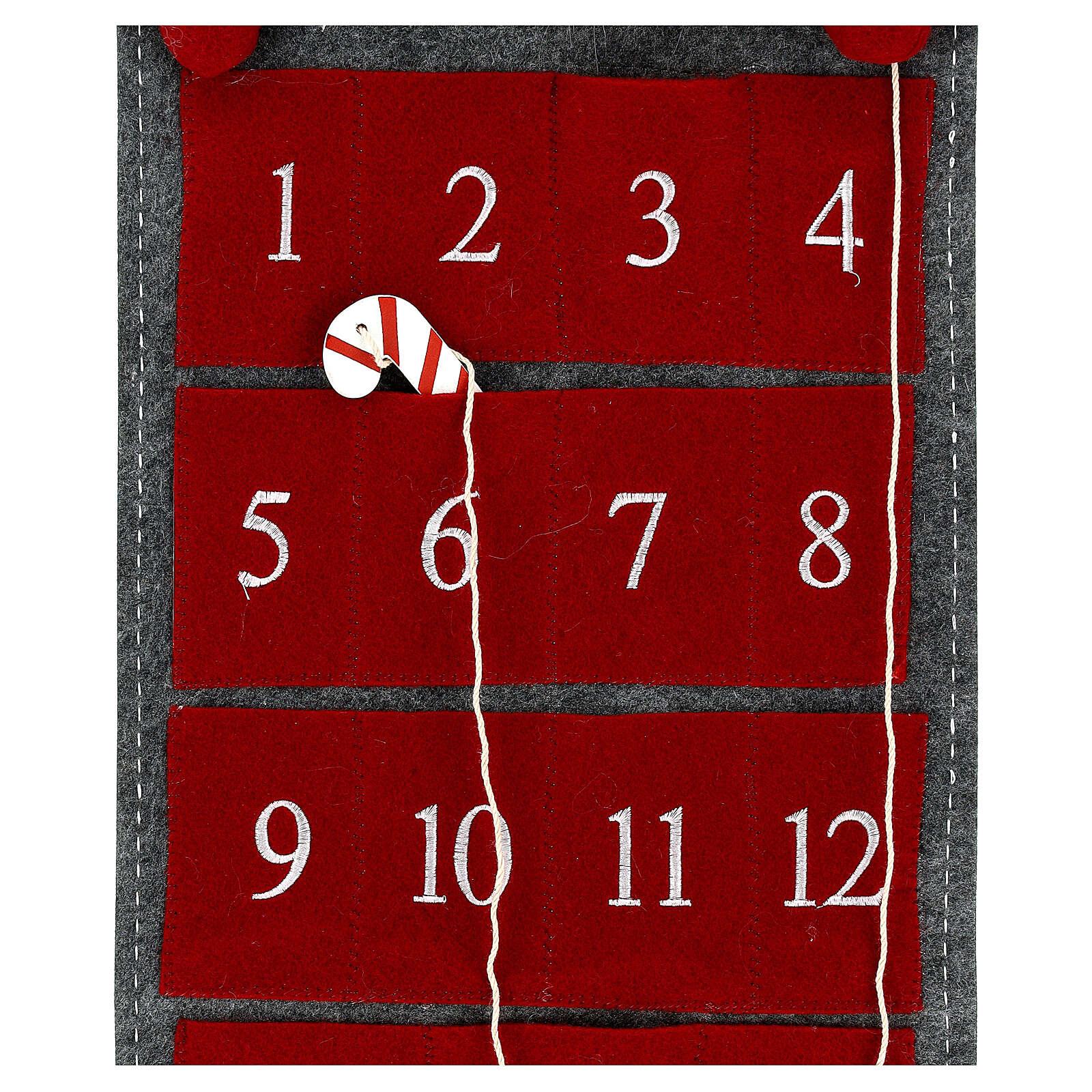 Calendario Avvento gnomo feltro 125 cm 3