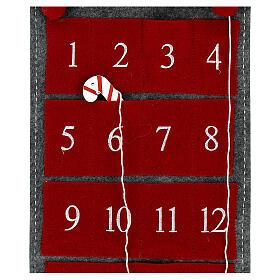 Calendario Avvento gnomo feltro 125 cm s4