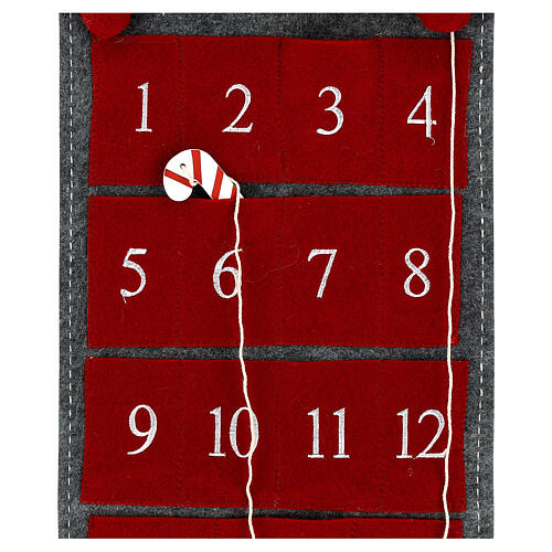 Calendario Avvento gnomo feltro 125 cm 4