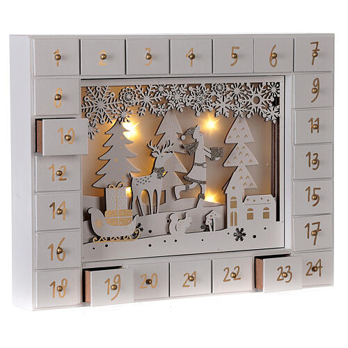 Advent Calendar with snowy forest background 27 cm 5