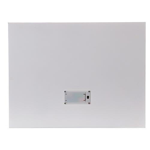 Calendrier Avent bois blanc lumières 27 cm 6