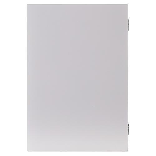 Calendario Avvento pieghevole legno bianco 30x40 cm 8