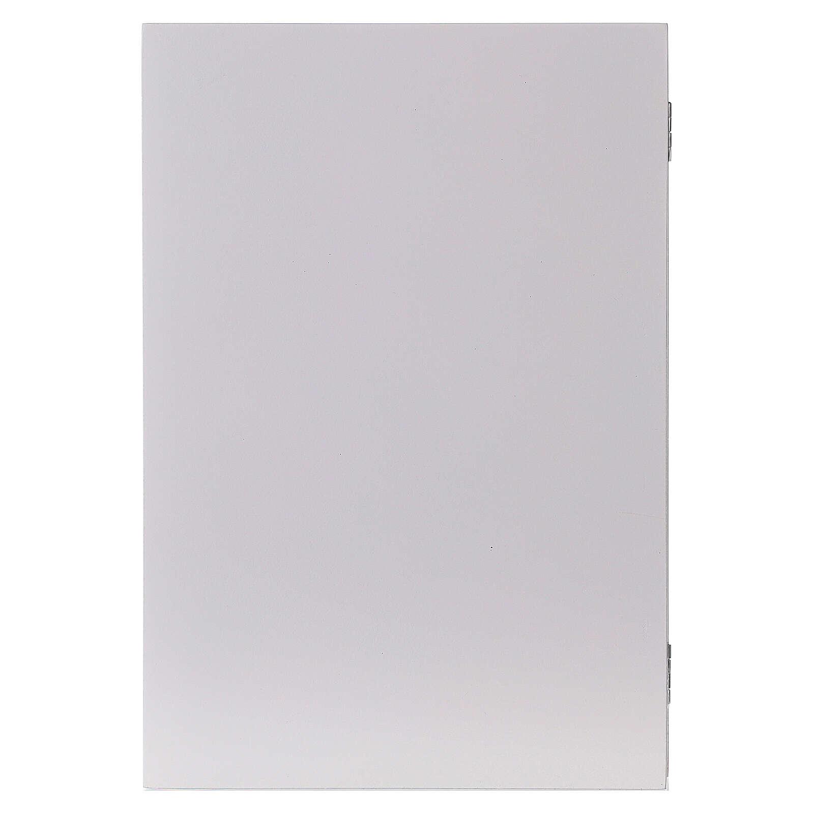 Kalendarz adwentowy składany drewno biały 30x40 cm 3