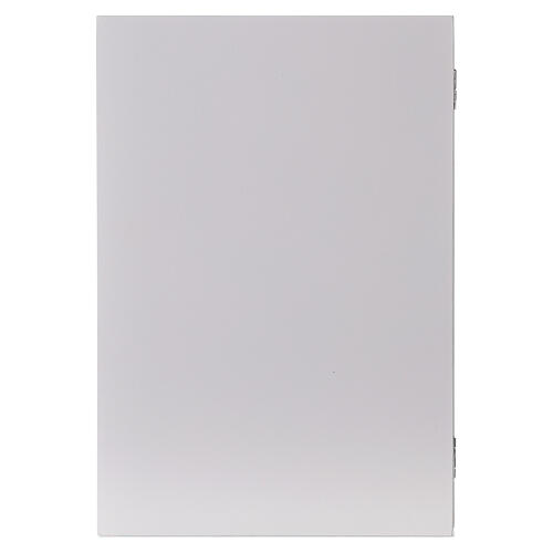 Kalendarz adwentowy składany drewno biały 30x40 cm 7
