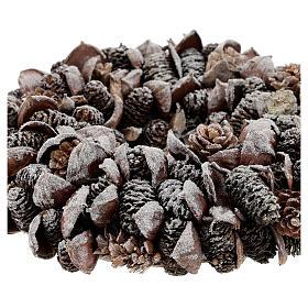 Pine cone Advent wreath silver glitter 20 cm s3