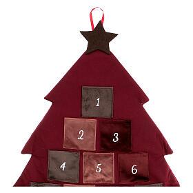 Calendario Avvento Albero bordeaux 85 cm s3