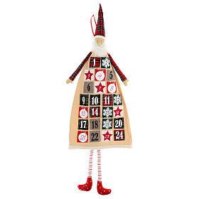 Calendario Avvento gnomo cotone 140 cm s1