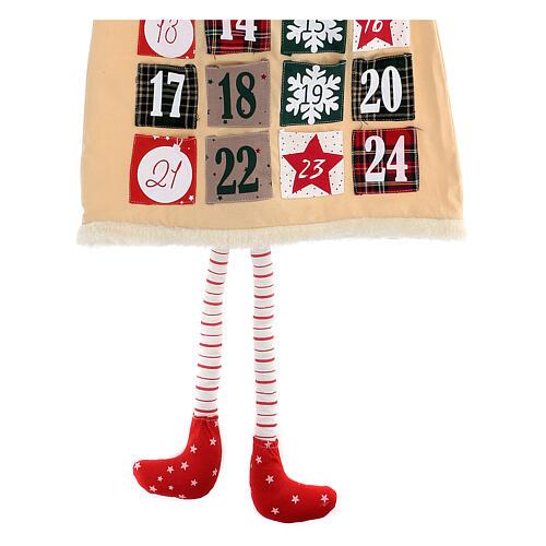 Calendario Avvento gnomo cotone 140 cm 4