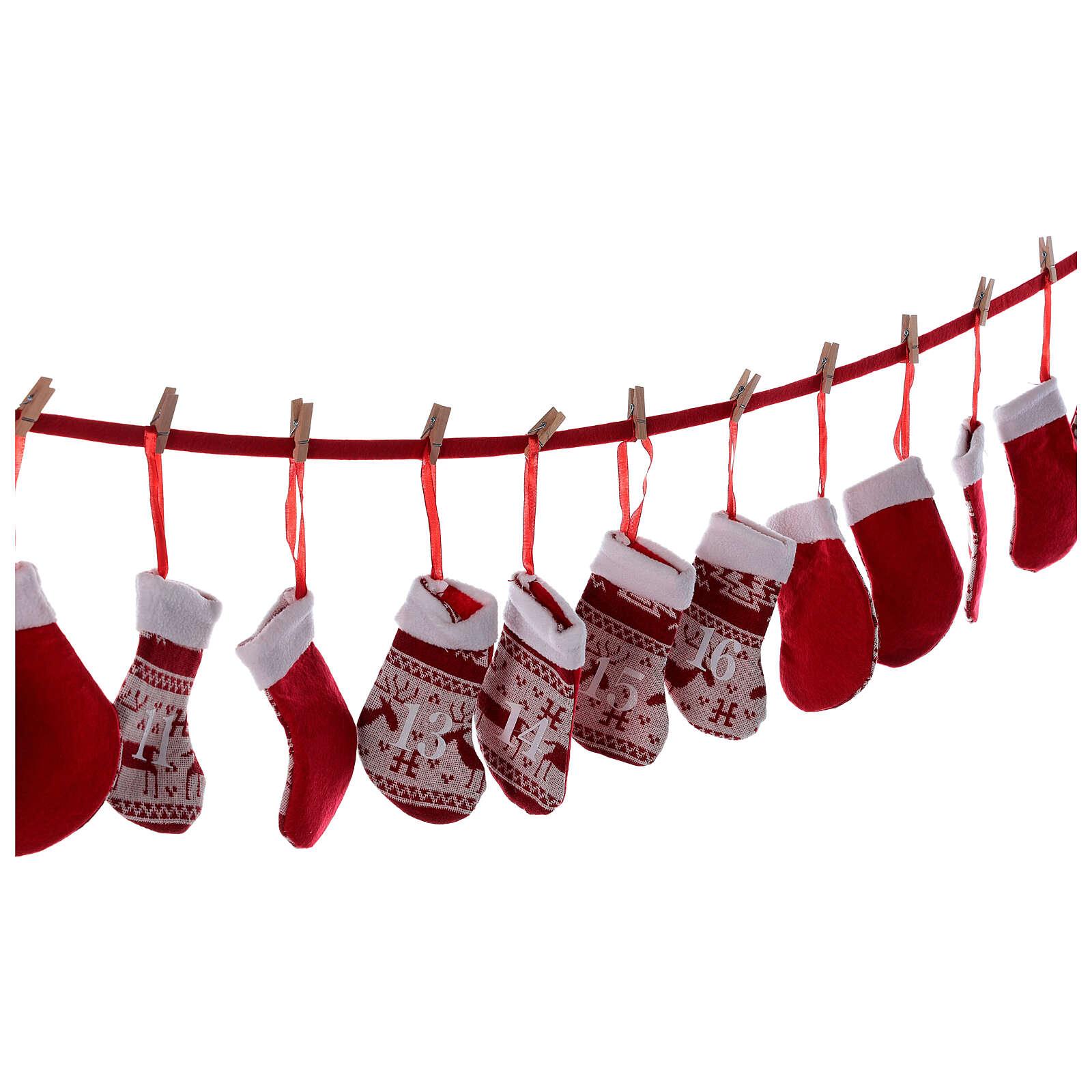 Calendario Avvento calze rosse  3