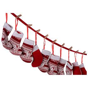 Calendario Avvento calze rosse  s3