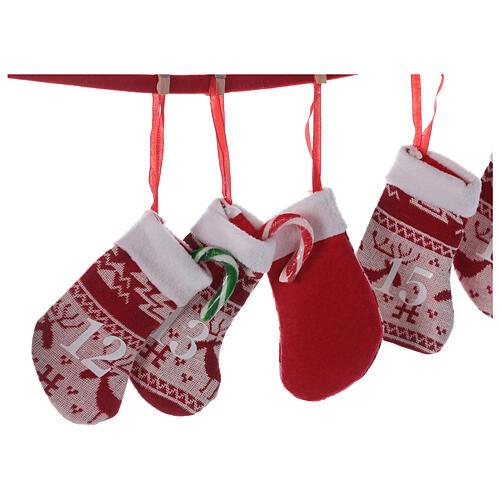 Calendario Avvento calze rosse  2
