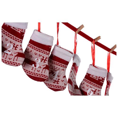 Calendario Avvento calze rosse  4
