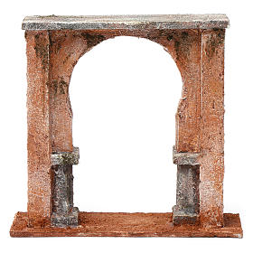 Wall with arched window for 12 cm nativity scene, Palestine style s4