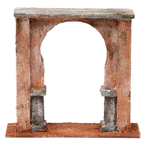 Wall with arched window for 12 cm nativity scene, Palestine style 1