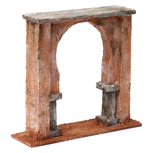 Wall with arched window for 12 cm nativity scene, Palestine style 3