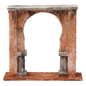 Muro finestra ad arco per presepe 12 cm 20X20X5 cm stile palestinese s4