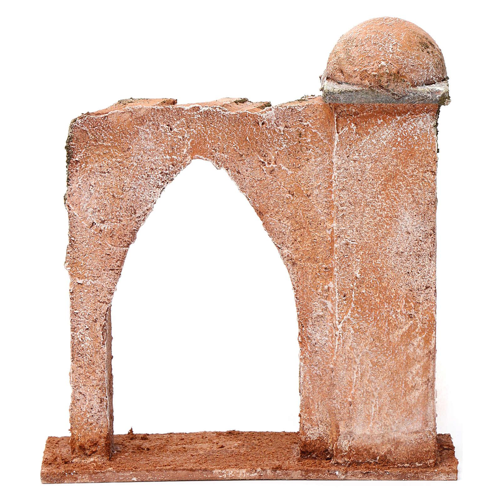 Pared arco ojival y columna para belén 10 cm 20x15x5 cm estilo palestino 4