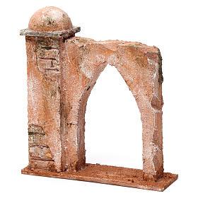 Pared arco ojival y columna para belén 10 cm 20x15x5 cm estilo palestino s2