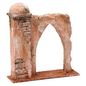 Pared arco ojival y columna para belén 10 cm 20x15x5 cm estilo palestino s3