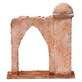 Pared arco ojival y columna para belén 10 cm 20x15x5 cm estilo palestino s4