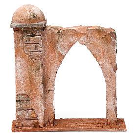 Mur arc en ogive et colonne pour crèche 10 cm 20x15x5 cm style palestinien s1